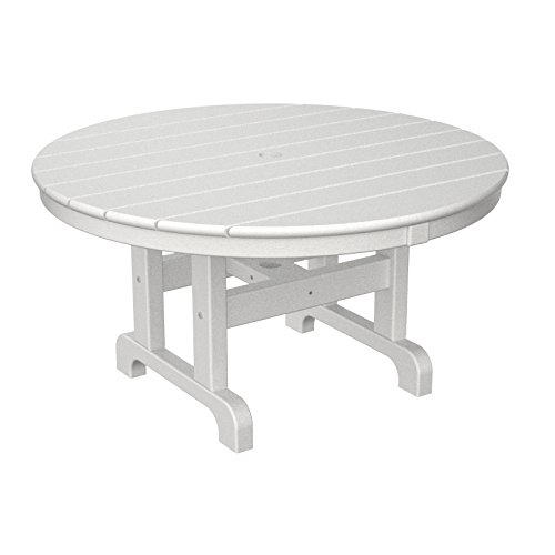 Polywood Round Conversation Table in White, 36-Inch