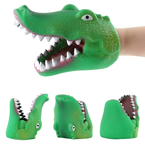 Binory Hand Puppets Role Play Realistic Gloves Toy,Wild Animals/Marine Animals Soft Rubber Realistic Appearance Finger Hand Toy for Kids Adult,Children's Day Science Biological -