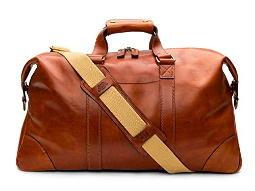 - Bosca Men's Dolce Collection - Duffel Amber Duffel Bag