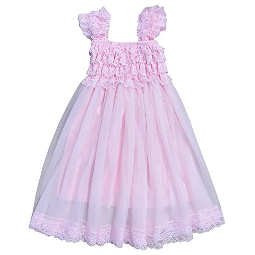 So Sydney Vintage Style Chiffon and Lace Princess Cap Sleeve Dress (12 Month - 2T, - Fashion Style Sydney