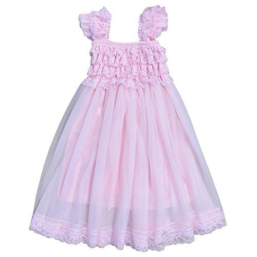 So Sydney Vintage Style Chiffon and Lace Princess Cap Sleeve Dress (12 Month - 2T, - Sydney Style Fashion