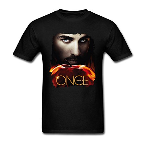 JuDian Once Upon A Time Hook Poster T Shirt For Men (Hook From Once Upon A Time)