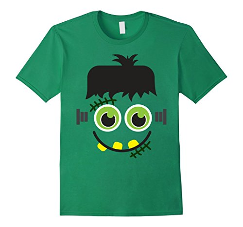 Frankenstein Head Costume (Mens Scary Frankenstein Looking Head Halloween Costume T-shirt Small Kelly Green)