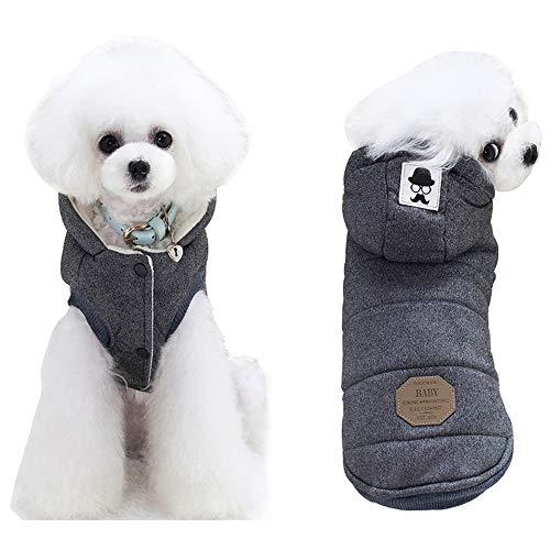 Berber Dog Coat - Korx Dog Coat Berber Fleece Puppy Jacket Hoodie Cold Weather Vest Winter Warm Dog Clothes for Small Medium Dogs