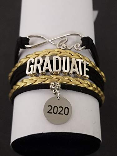 Personalized Graduation Bracelet with Letter Charm -Graduation Gift, Perfect Gift for Graduates, 2020 Edition