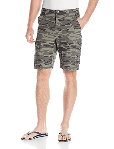 Columbia Men's Silver Ridge Printed Cargo Shorts, Gravel Camo Print, 36x10