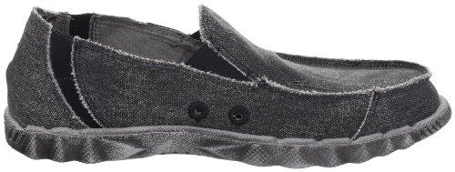 Skechers Mens 63335 Tride Miron Canvas Slip On Shoe Nero