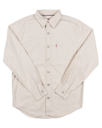 Plaster Beige - Levi's Men's Classic Denim Workshirt - Plaster Khaki (Medium, Plaster Khaki)