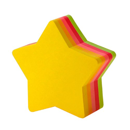 (Post-it is sticky notes Star 72x72mm fluorescent color five-color 225 sheets CC-32)