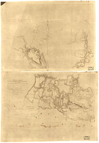 1860 31 X 24 Old Vintage Antique Art Canvas Reprinted Map Of Sketch Of Country Between Haxalls Landing And Charles City Court House   Reconnoissances  Sic  Under The Direction Of Brig  Genl  A A  H