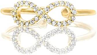PAVOI 14K Gold Plated Infinity
