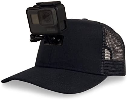 9f9d60d3bb9 Amazon.com : ActionHat Black Curved Bill - Patent Pending Floating Hat  Mount for GoPro Hero 3/4/5/6/7 Osmo Action Camera : Camera & Photo