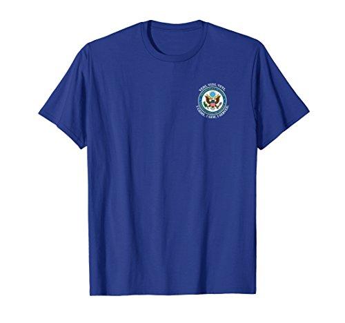 Mens Us State Department Logo T Shirt Small Royal Blue