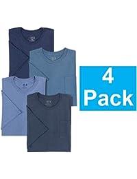 Mens Crewneck T-Shirts, Assorted Blues, 3XL (Pack Of 4)