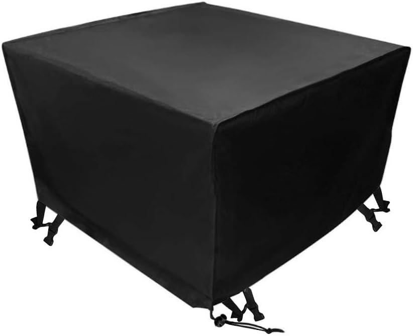 Xiliy Funda para Muebles de Jardín Impermeable Funda para Mesa para Mobiliario de Exterior Mesa 135 x 135 x 75 cm