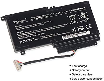 14,4V 2838mAh kompatibel mit Toshiba L45 L45d L50 S55 P55 L55T P50 P55 S55 KingSener PA5107U-1BRS Ersatz-Akku F/ür Notebooks