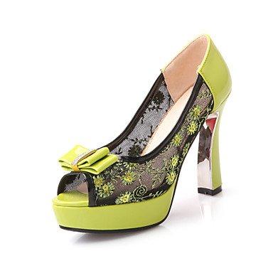 Negro LvYuan Informal Sandalias Stiletto del Tacón bordados Confort Fiesta Zapatos Mujer Tul PU Zapatos Noche y Boda club Morado Purple TTwArzpq