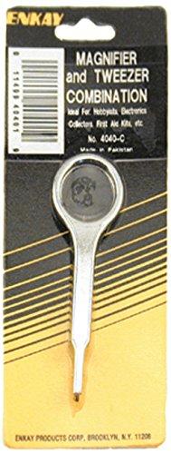 Enkay 4040-C  Magnifier-Tweezer Combo, - Magnifier Carded