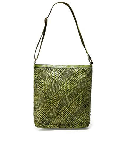 Borsa Pelle Donna Shopper Verde Grande Campomaggi Da Tessuto In N8Py0nvwmO