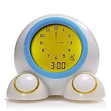 Onaroo Teach Me Time Talking Alarm Clock and Nightlight