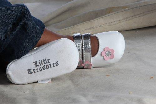 PROMOTION - Chaussures coffre trésor ? Babies blanc fleurs roses