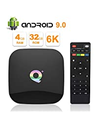 2019 Q Plus Android 8.1 TV Box 4GB RAM 32GB ROM WiFi 2.4GHz Quadcore Cortex A53 HDMI 2.0 Soporte 6K 3D   H.265