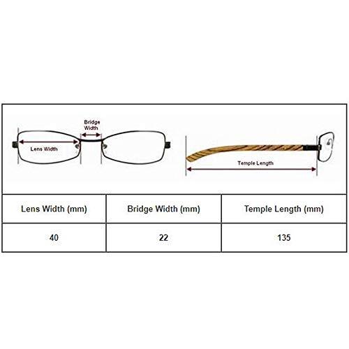 a flexible clásicas de flexibles Glasses EnzoDate Presbyopia Lentes 3 blando de 3 Nerd lectura bolsillo 0 Gris estuche Geek Lector 5 redondas retro 1 Lentes 0zUPqz