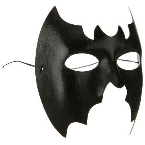 Jacobson Hat Company Black Bat Masquerade Mask