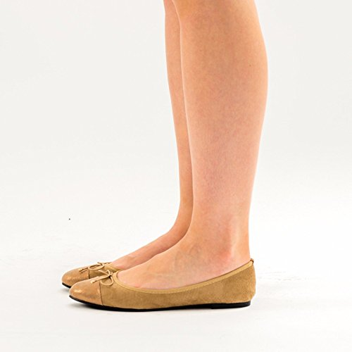 SnobUK - Ballet mujer caqui
