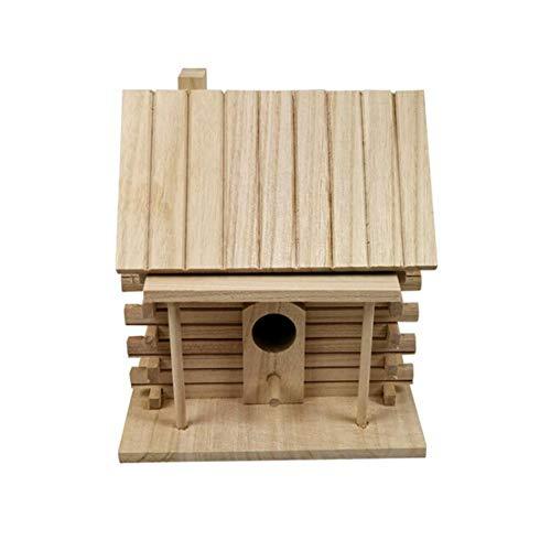 (Cheng-store Bird Cage Wood Green Warm Parrot Bird Cage Bird Breeding Box Outdoor Tiger Skin Starling Bird House )