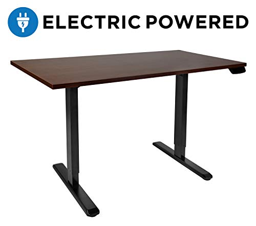 Mount-It! Electric Height Adjustable Standing Desk Frame | Motorized Sit Stand Desk Converter | Ergonomic Floor Standing Desk for Office | Dual Motor, Programmable, Memory and Timer Function | Black