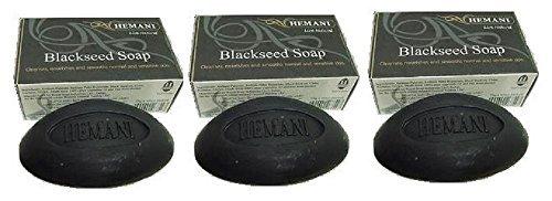 (Hemani Black seed Soap 75GM X 3 (PACK OF THREE) by Hemani)