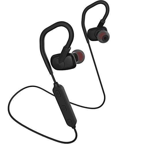 Price comparison product image F-HeeBin Bluetooth Headphones Lightweight V4.1 Wireless Sport Stereo In-Ear Noise Cancelling Sweatproof Headset 8-Hour Playing Time with Mic, Premium Bass Sound, Secure Fit for Running (Black)