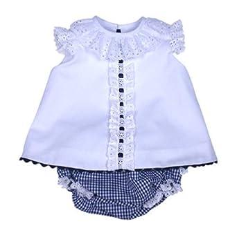 039d37e639d5d MI HIJA Y YO Vestido y Cubre Pañal de Vichy y Piqué Modelo Jesusín para Bebé  (de 0 a 24 Meses) - Hecho a Mano - Colección Luz Marina - Excellent   Amazon.es  ...