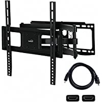 NavePoint Articulating Wall Mount Bracket With Dual Arm Tilt Swivel 32-50 Inches with HDMI Cable