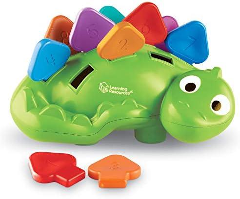 [해외]Learning Resources Steggy the Fine Motor Dino Montessori Toys Color Recognition Developmental Toys Fine Motor Toy Ages 2+ / Learning Resources Steggy the Fine Motor Dino Montessori Toys Color Recognition Developmental Toys Fine Mot...