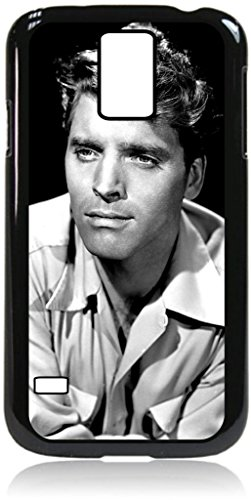 Burt Lancaster - Black Case with Window View for the Samsung Galaxy s5 i9600-Hard Black Plastic Snap-On Case with PU Leather and Inner Suede Flip Cover