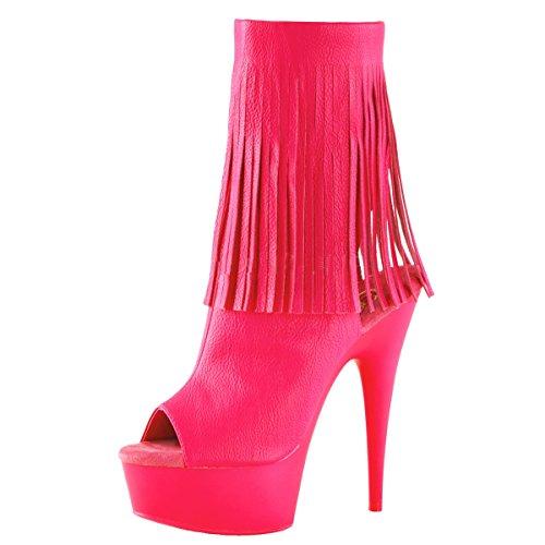 Heels-Perfect Peep Toe Stiefelette, Damen, Pink (Pink) Pink (Pink)