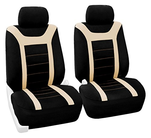 FH Group FB070BEIGE102 Beige Front Airbag Ready Sport Bucket Seat Cover, Set of 2