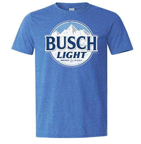 Brew City Beer Gear Busch Light Short Sleeve T-Shirt-Heather Royal-XL