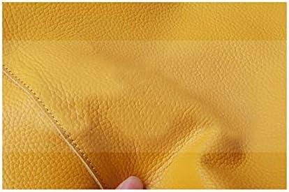 Mdsfe Borsa da Donna Tote Casual Borsa a Spalla Moda Donna Giallo Limone Borsa a Spalla in Vera Pelle di Vacchetta Borsa a Spalla - Grigio, a1,36cm