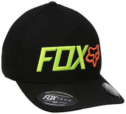 Fox Men's Trenches Flexfit Hat, Black, Large/X-Large