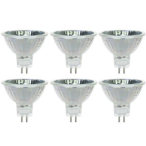 Sunlite 35MR16/CG/FL/12V/6PK Halogen 35W 12V MR16 Flood Light Bulbs (6 Pack) - Halogen 12v 35w Light Bulb