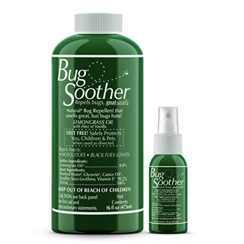 BUG SOOTHER Refill Bonus Pack - Includes Free 1 oz. Travel Size. (16 oz.) - Natural Mosquito, Gnat and Insect Deterrent with Essential Oils - Safe for Adults, Kids, Pets, Environment - Made in USA