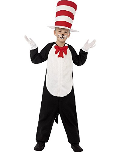 Cat in the Hat Child Costume World Book Day Age 4-6 Years
