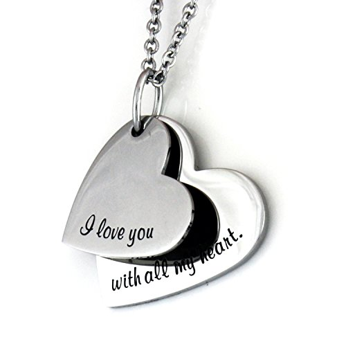 Love Necklace Heart Engraved Chain product image