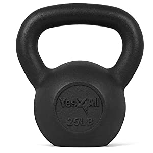 Well-Being-Matters 41RnfY6E0ML._SS300_ Yes4All Solid Cast Iron Kettlebell Weights – Great for Full Body Workout and Strength Training