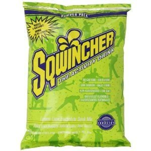 (Sqwincher Powder Concentrate Electrolyte Replacement Beverage Mix, 5 gal, Lemon Lime 016408-LL (Pack of 16))