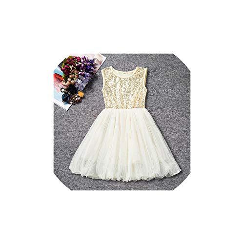 Girl Costume Clothing White Beading Princess Party Dress Elegant Ceremony 4 5 6 Years Teenage,As -