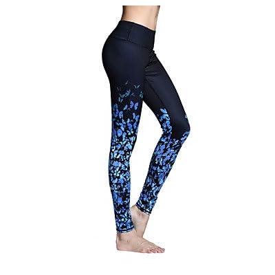 Wuyulunbi@ Pantalon Femme respirant à séchage rapide les collants les Leggings bas Exercice Pilates Yoga & Fitness Sports Loisirs Tournant serré en polyester